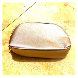 Gold make up bag new with tags